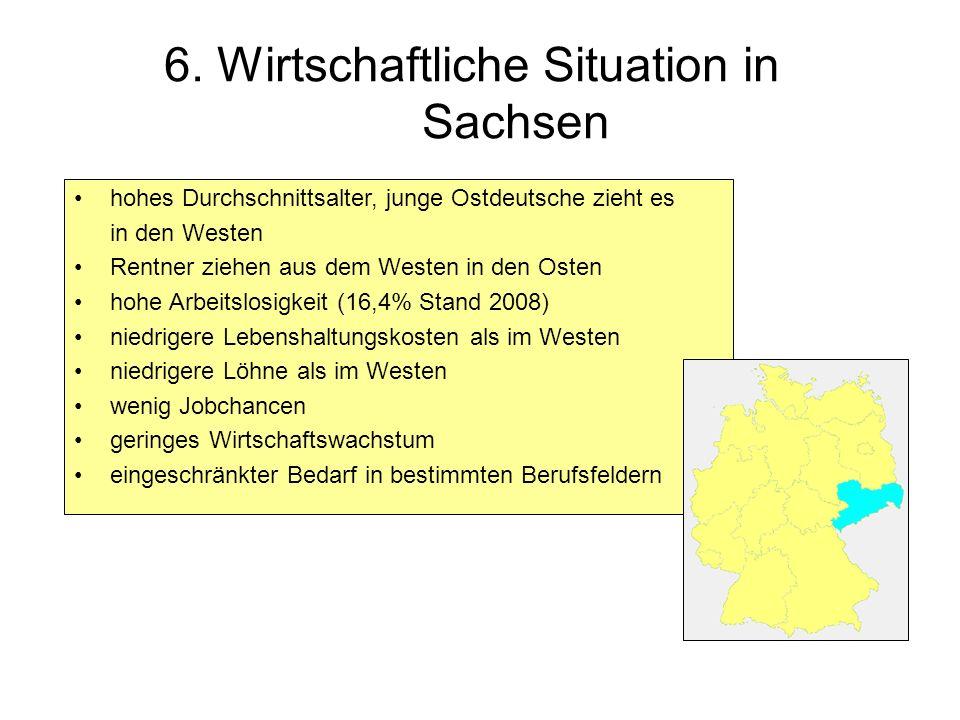 6. Wirtschaftliche Situation in Sachsen