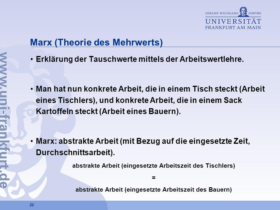 Marx (Theorie des Mehrwerts)