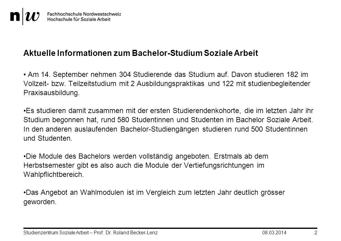 Aktuelle Informationen zum Bachelor-Studium Soziale Arbeit