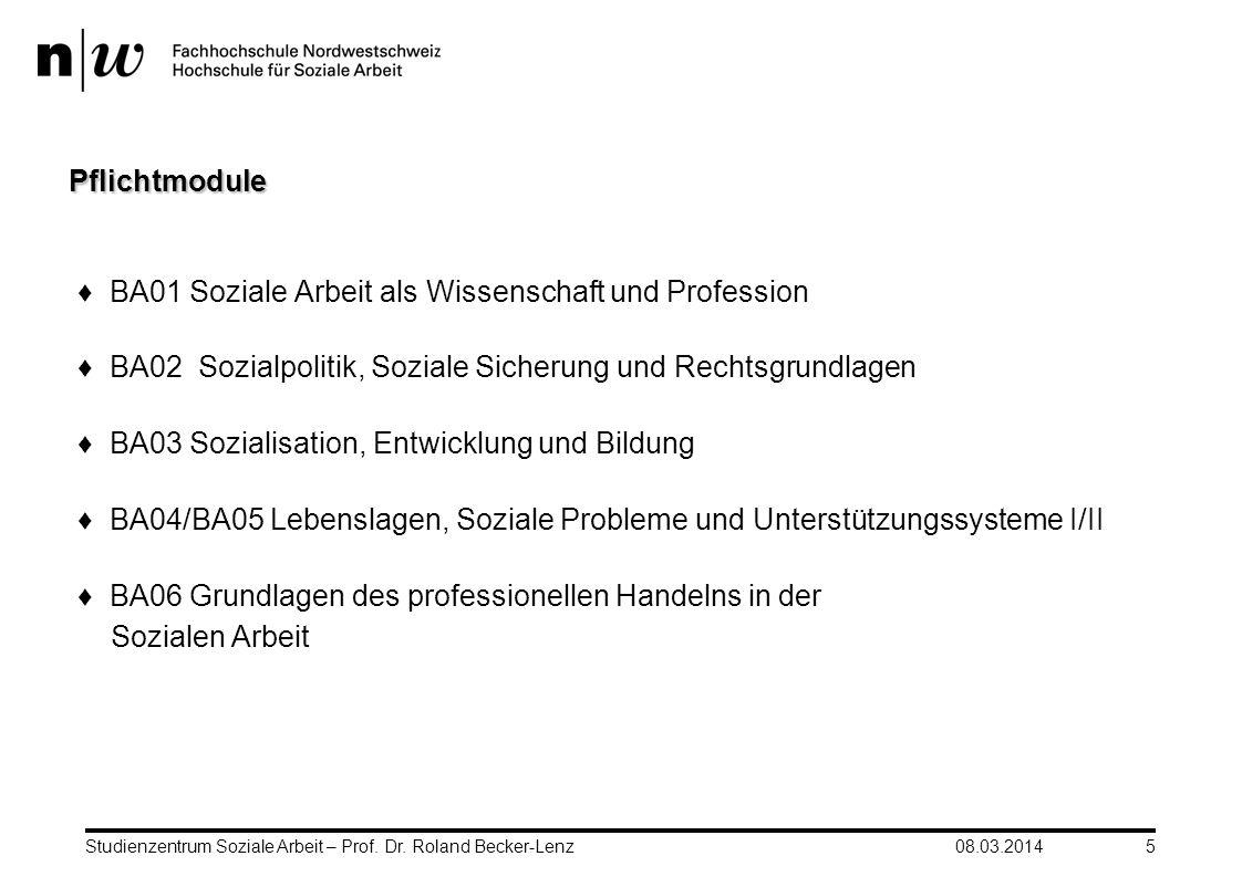 BA01 Soziale Arbeit als Wissenschaft und Profession