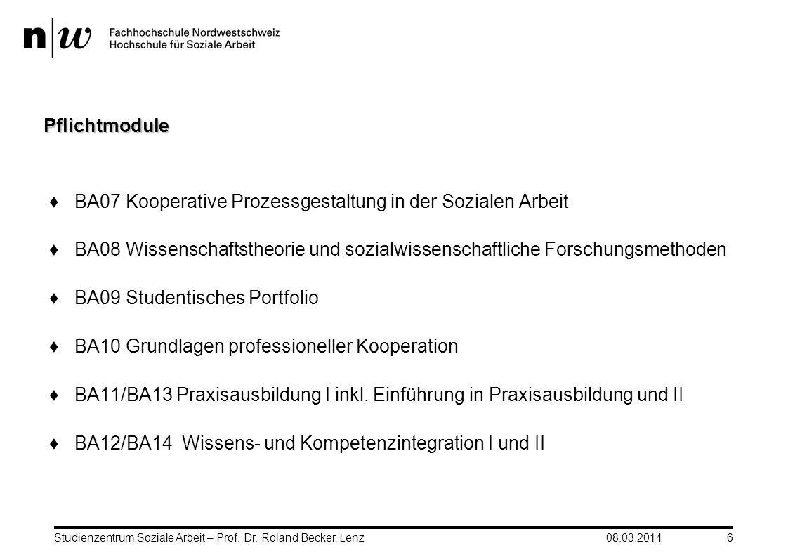 BA07 Kooperative Prozessgestaltung in der Sozialen Arbeit