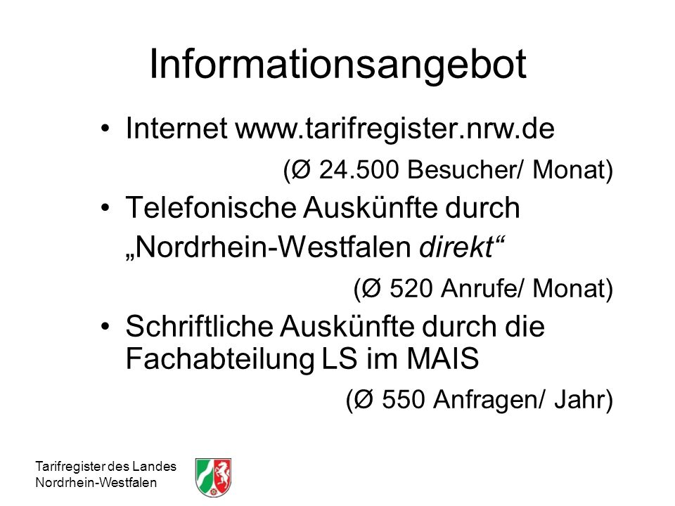 Informationsangebot Internet