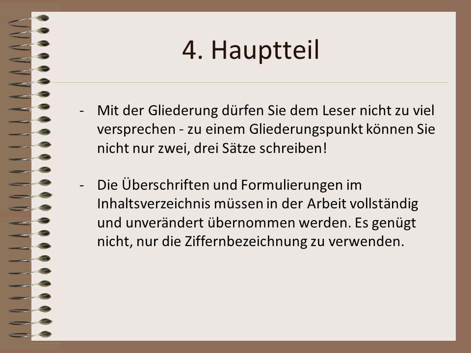 4. Hauptteil