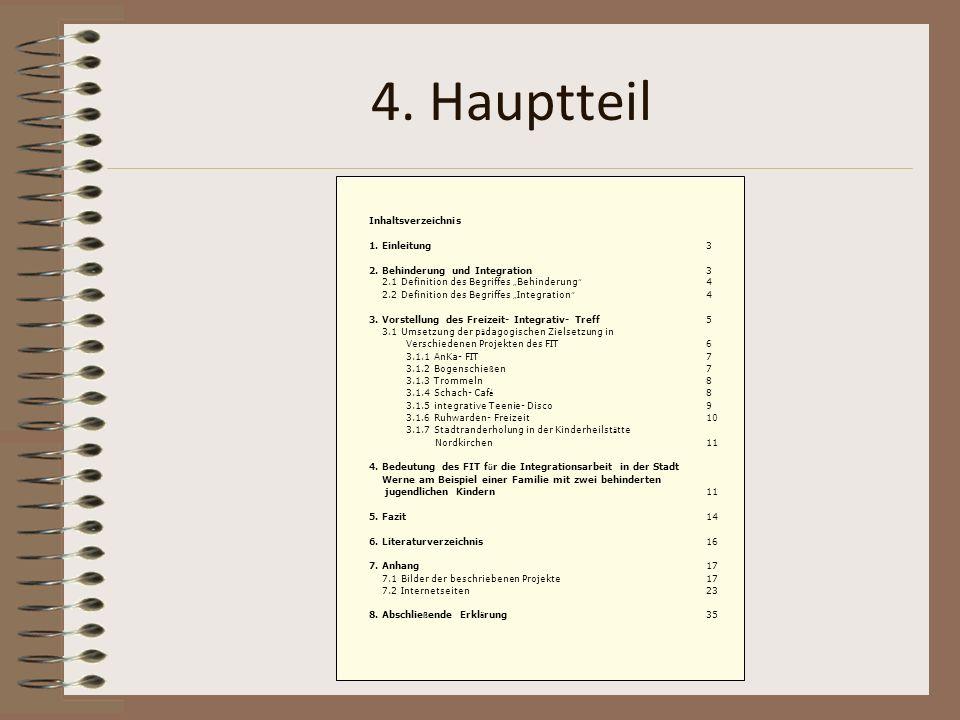 4. Hauptteil Inhaltsverzeichnis 1. Einleitung 3
