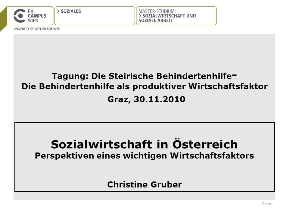 Sozialwirtschaft in Österreich