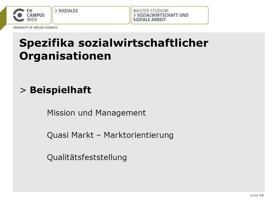 Spezifika sozialwirtschaftlicher Organisationen