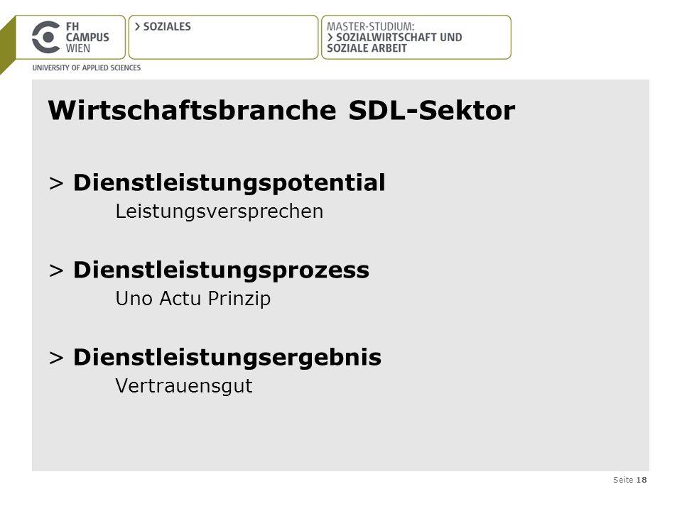 Wirtschaftsbranche SDL-Sektor