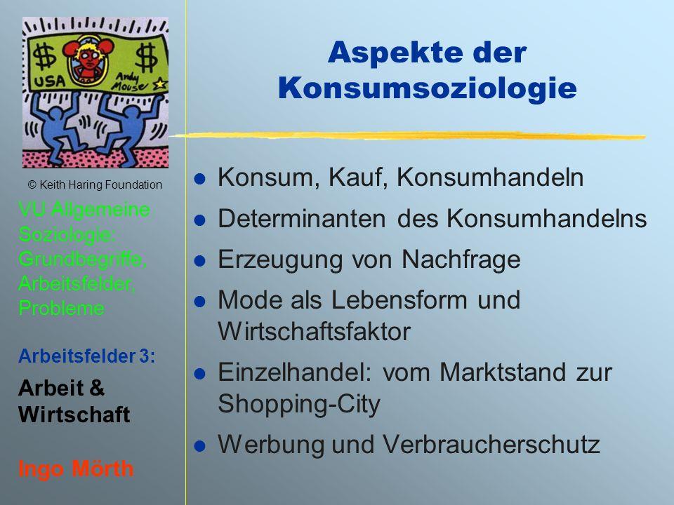 Aspekte der Konsumsoziologie