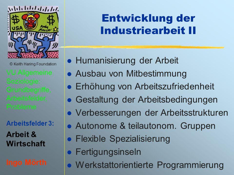 Entwicklung der Industriearbeit II