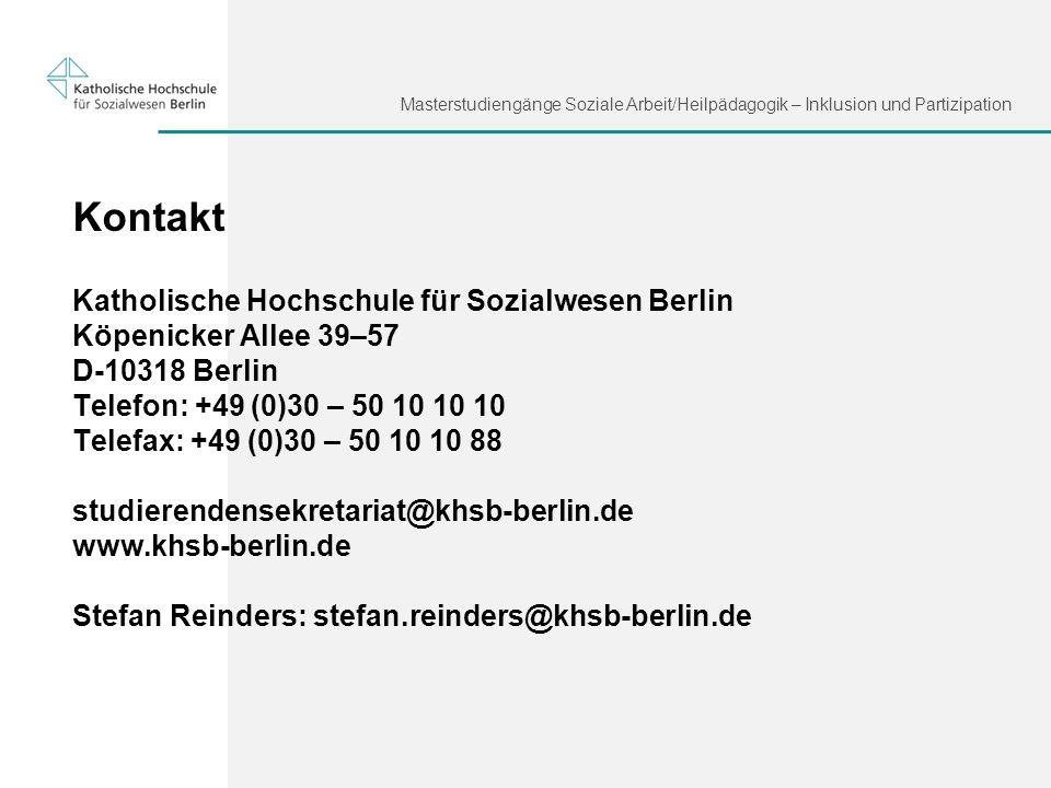 Kontakt Katholische Hochschule für Sozialwesen Berlin