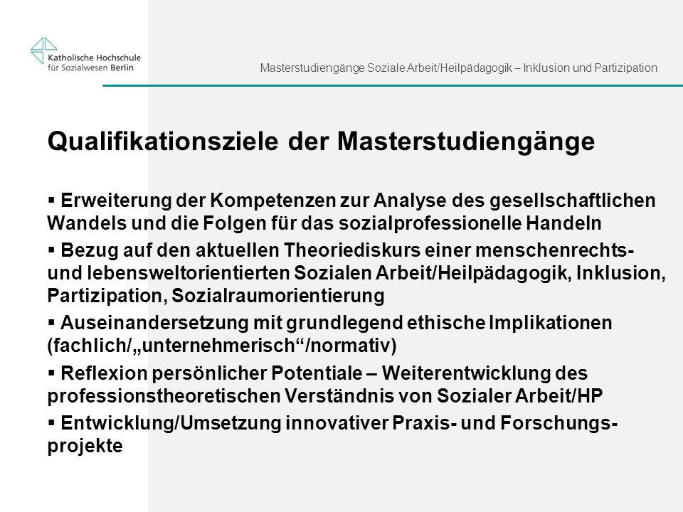 Qualifikationsziele der Masterstudiengänge
