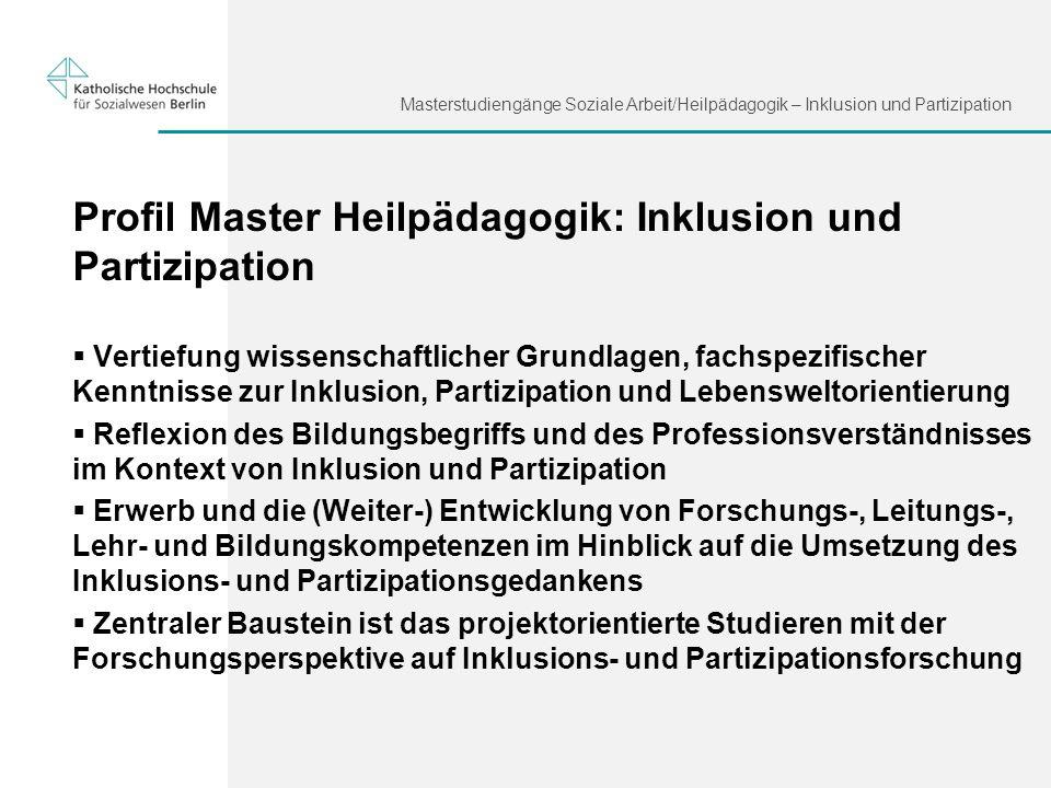 Profil Master Heilpädagogik: Inklusion und Partizipation
