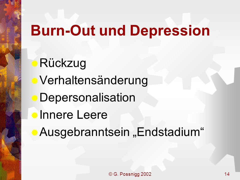 Burn-Out und Depression