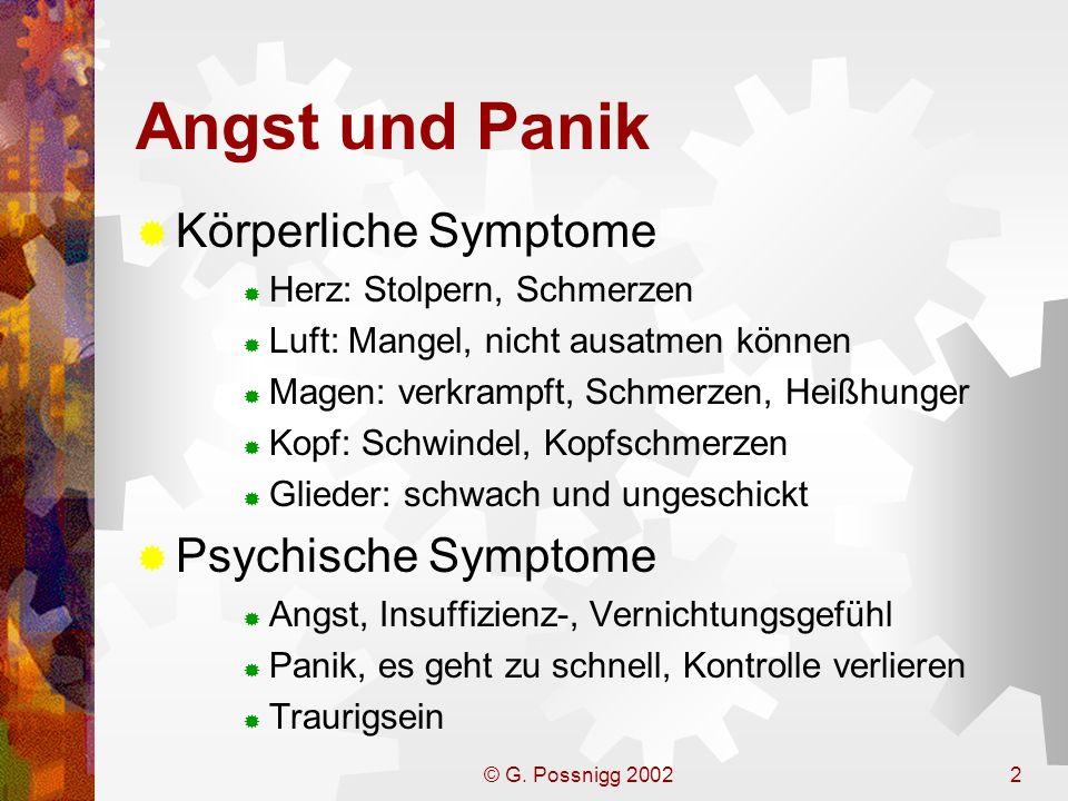 Angst und Panik Körperliche Symptome Psychische Symptome