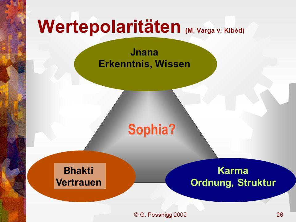 Wertepolaritäten (M. Varga v. Kibéd)