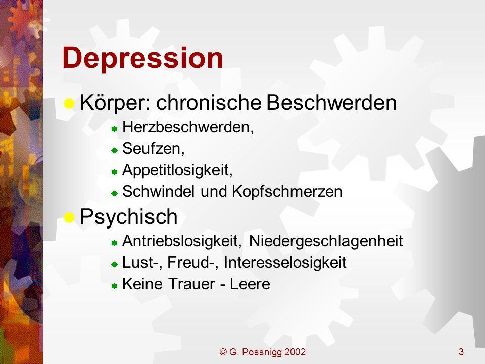 Depression Körper: chronische Beschwerden Psychisch Herzbeschwerden,