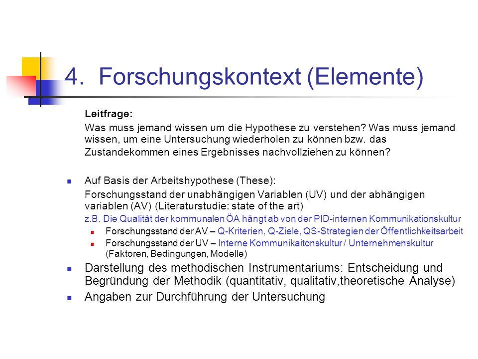4. Forschungskontext (Elemente)