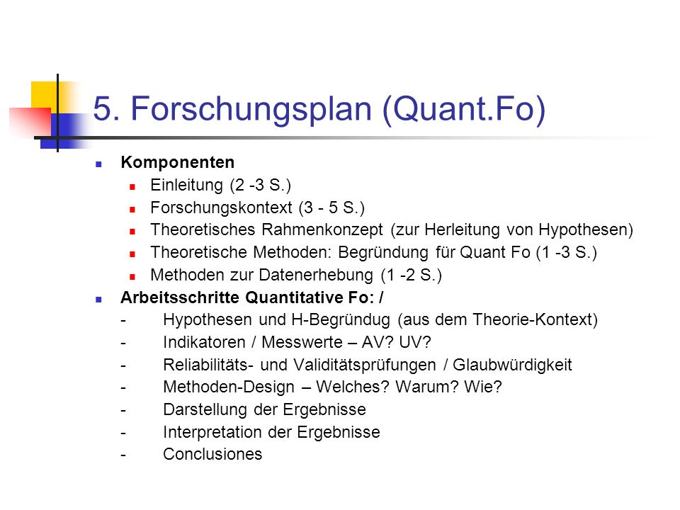 5. Forschungsplan (Quant.Fo)