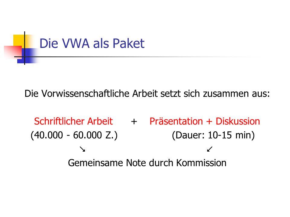 Die VWA als Paket