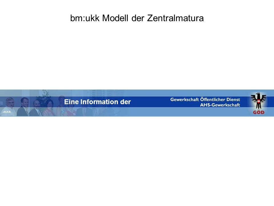 bm:ukk Modell der Zentralmatura