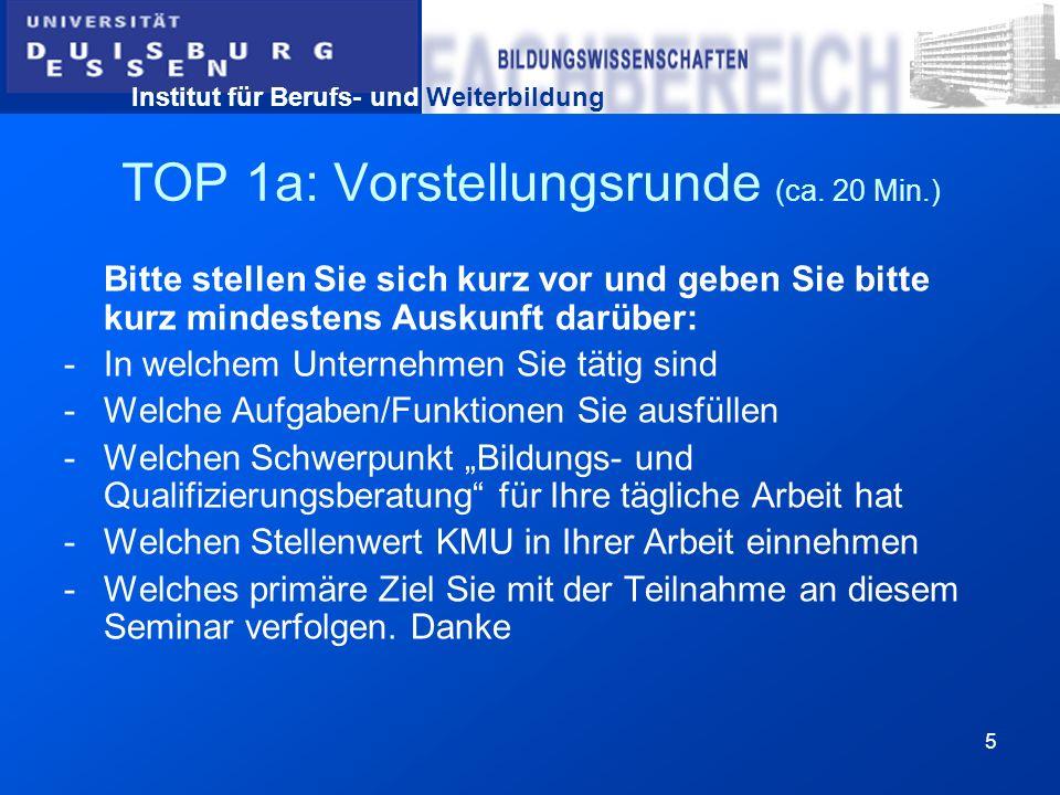 TOP 1a: Vorstellungsrunde (ca. 20 Min.)