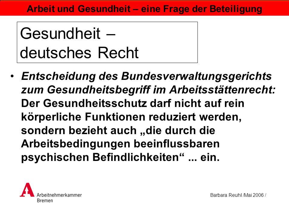 Gesundheit – deutsches Recht