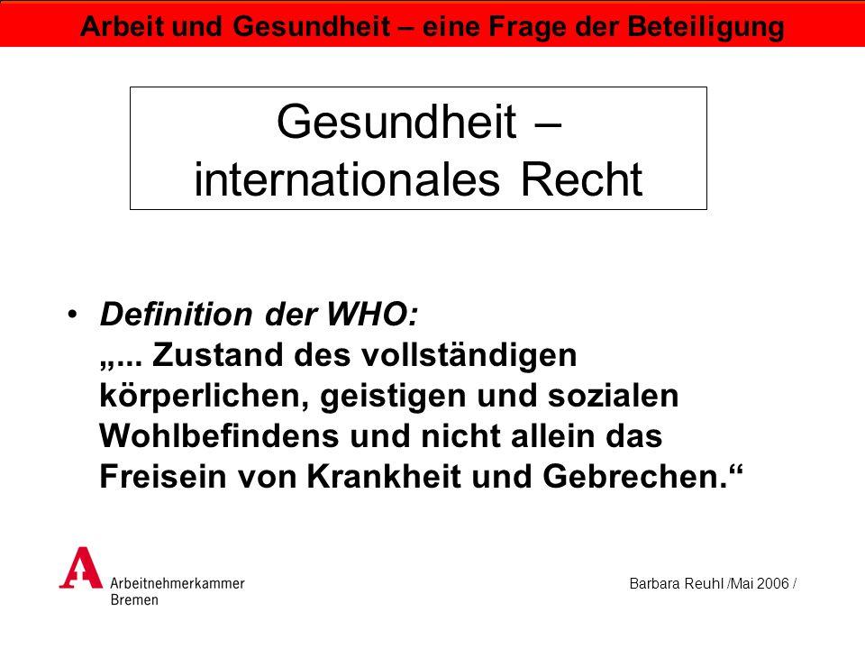 Gesundheit – internationales Recht