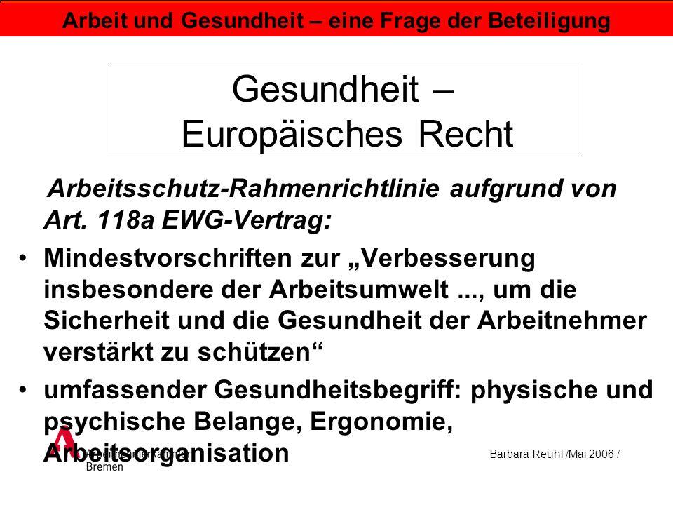 Gesundheit – Europäisches Recht