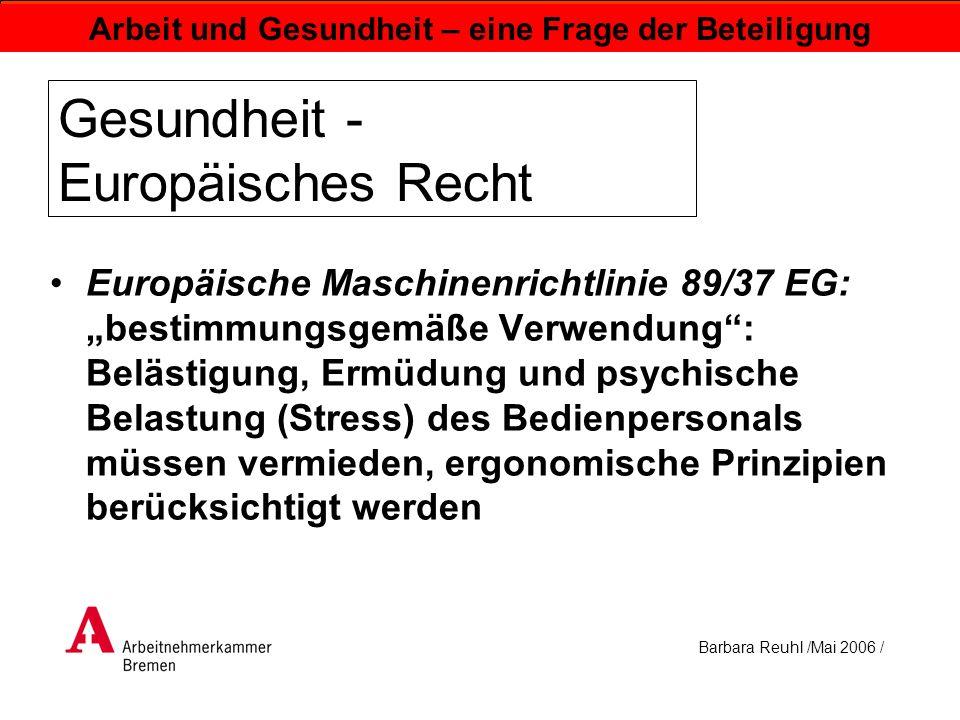 Gesundheit - Europäisches Recht