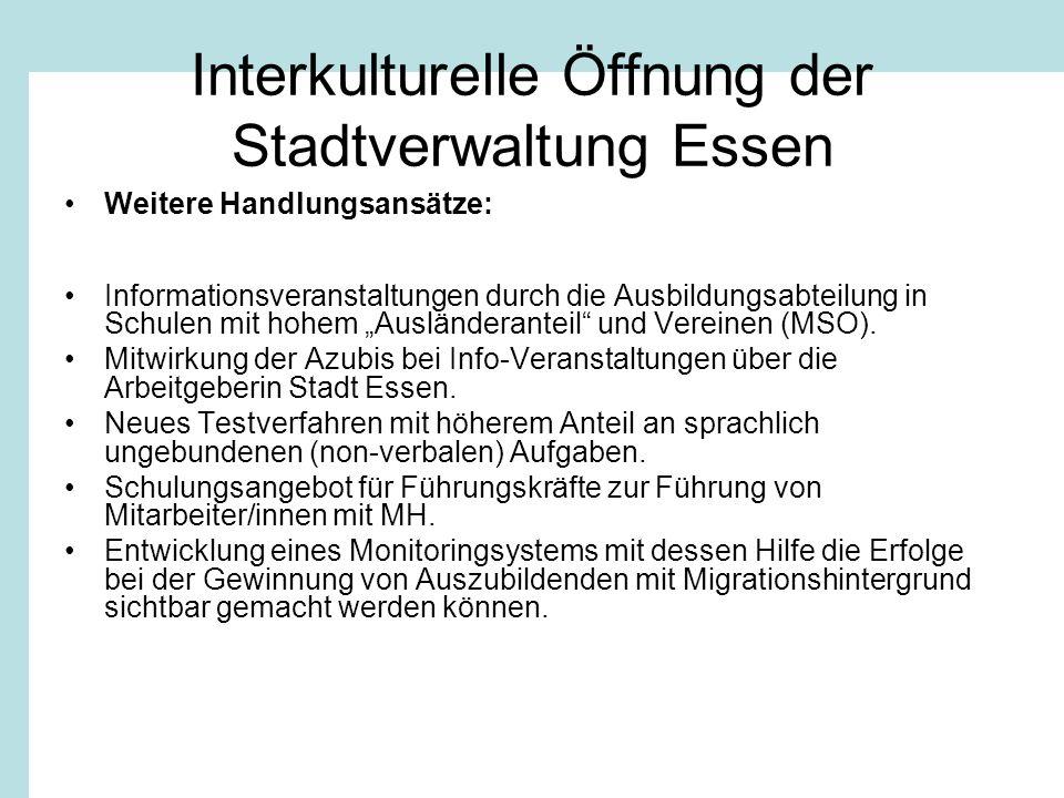 Interkulturelle Öffnung der Stadtverwaltung Essen