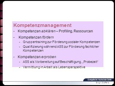 Kompetenzmanagement Kompetenzen abklären – Profiling, Ressourcen