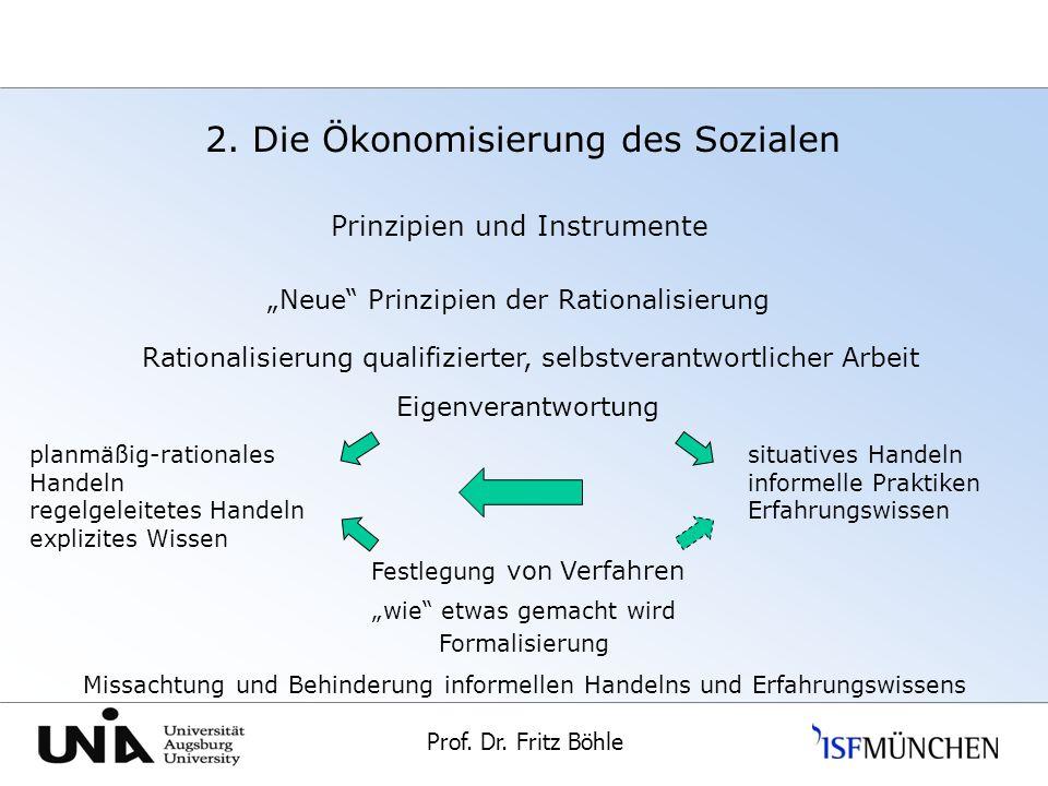 2. Die Ökonomisierung des Sozialen