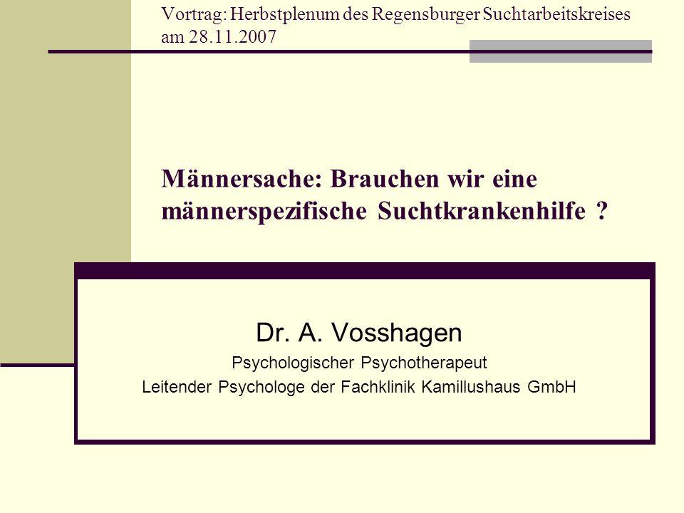 Vortrag: Herbstplenum des Regensburger Suchtarbeitskreises am 28. 11