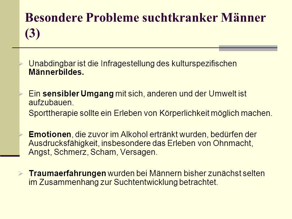 Besondere Probleme suchtkranker Männer (3)