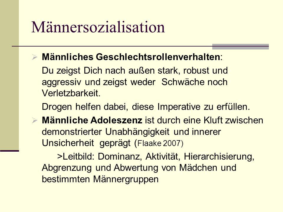 Männersozialisation Männliches Geschlechtsrollenverhalten:
