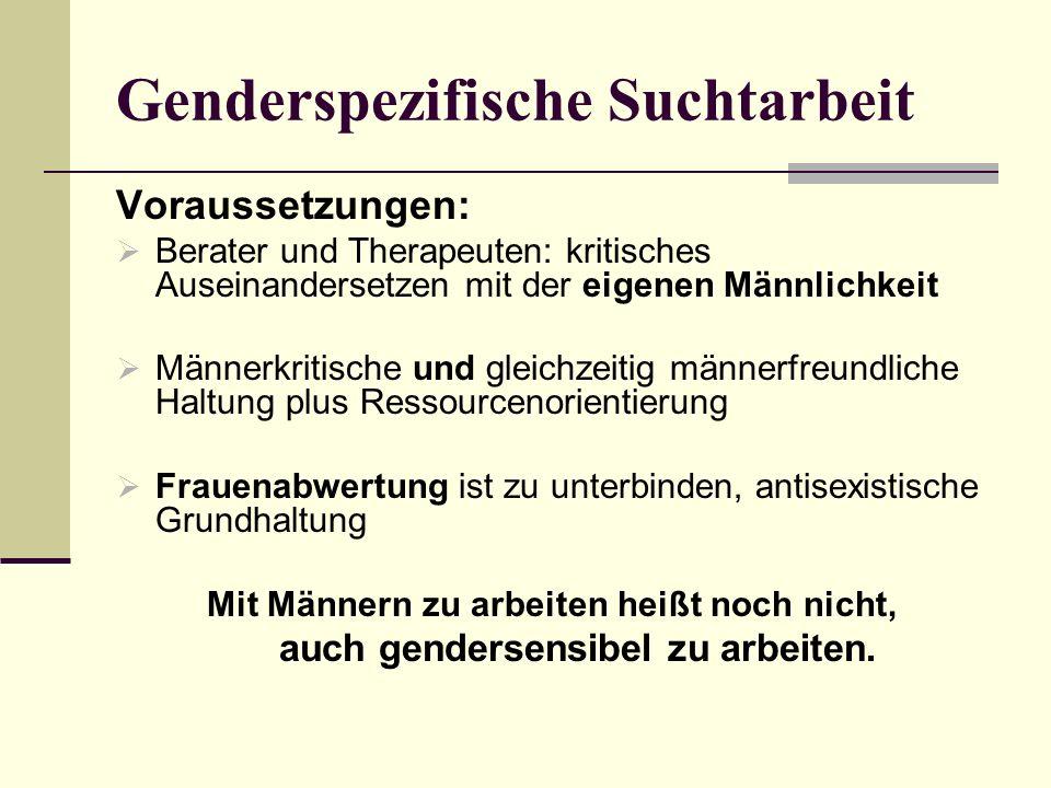 Genderspezifische Suchtarbeit