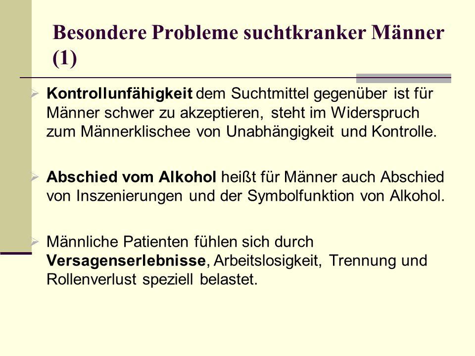 Besondere Probleme suchtkranker Männer (1)