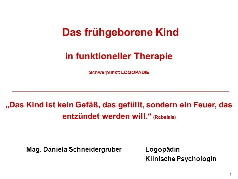 in funktioneller Therapie Schwerpunkt: LOGOPÄDIE