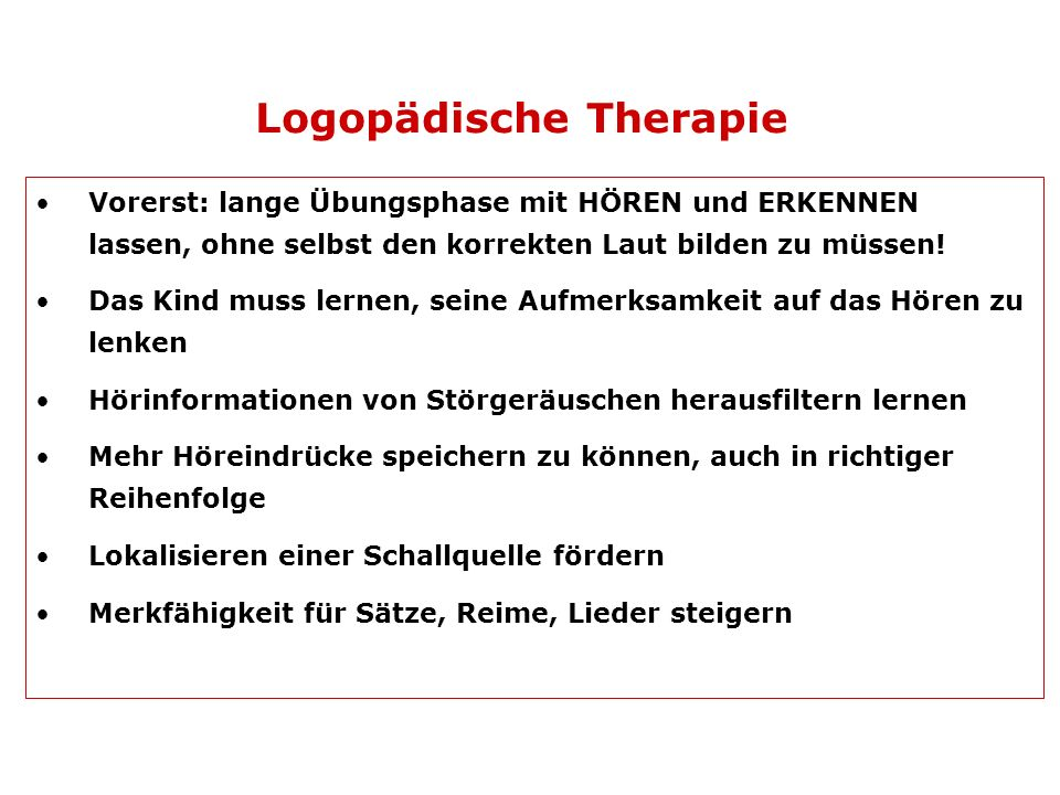 Logopädische Therapie
