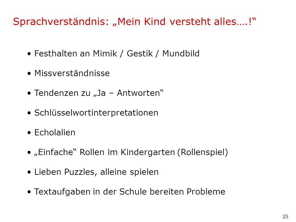 """Sprachverständnis: """"Mein Kind versteht alles….!"""