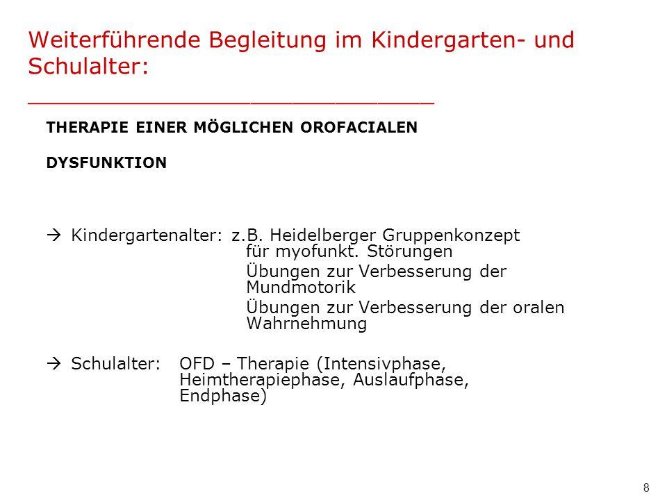 Weiterführende Begleitung im Kindergarten- und Schulalter: _____________________________