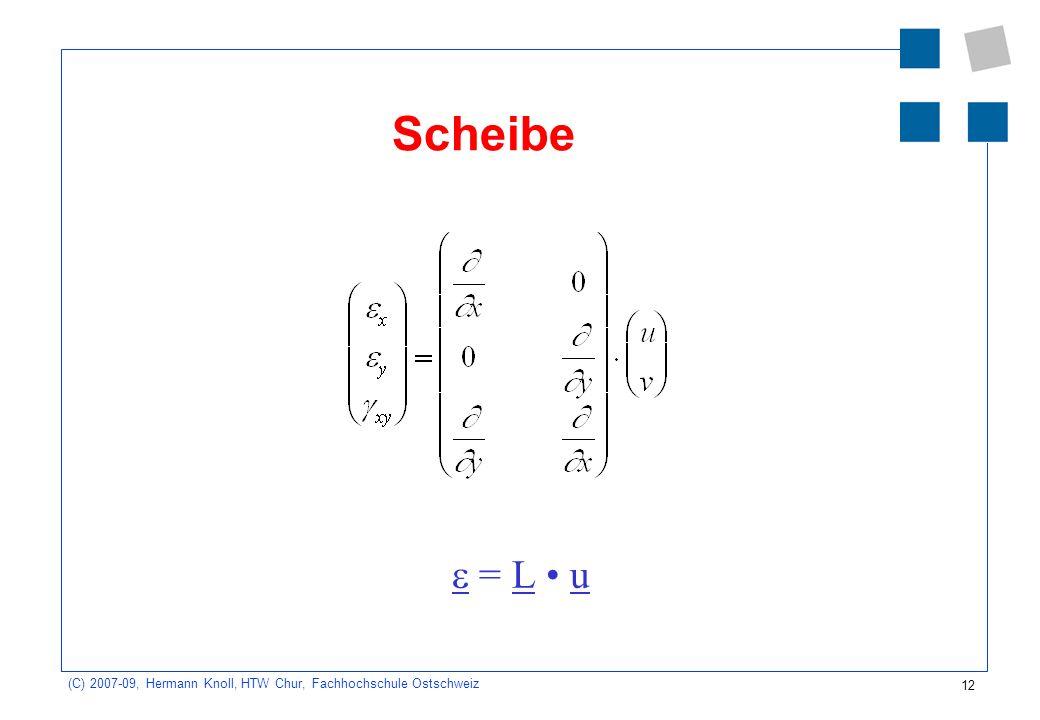 Scheibe e = L • u