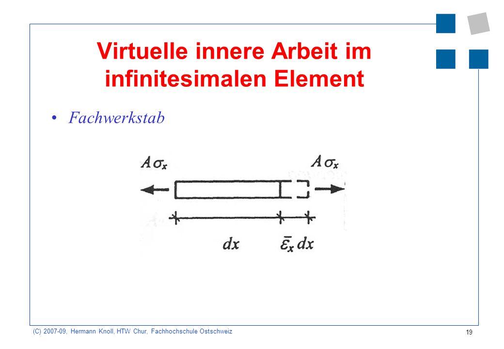 Virtuelle innere Arbeit im infinitesimalen Element