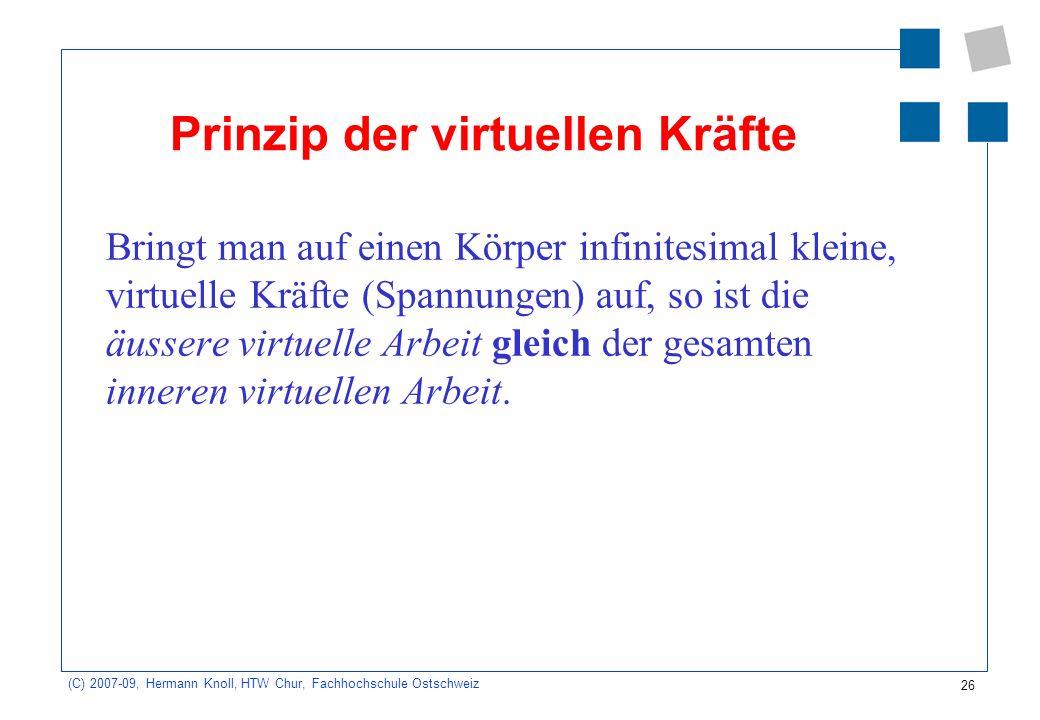 Prinzip der virtuellen Kräfte