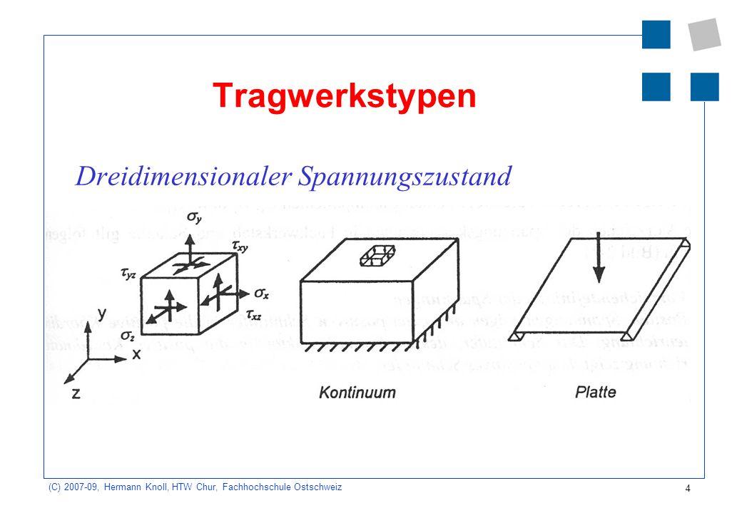 Tragwerkstypen Dreidimensionaler Spannungszustand