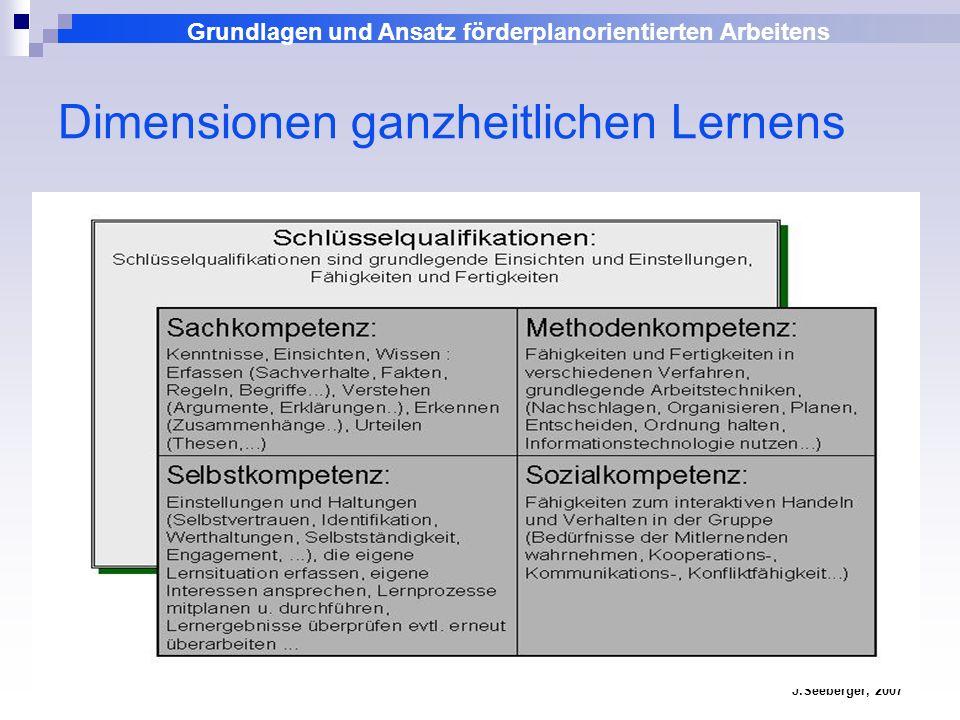 Dimensionen ganzheitlichen Lernens