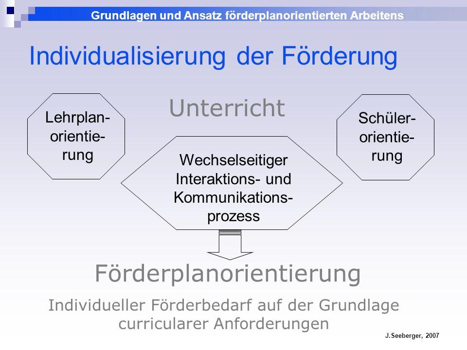 Individualisierung der Förderung