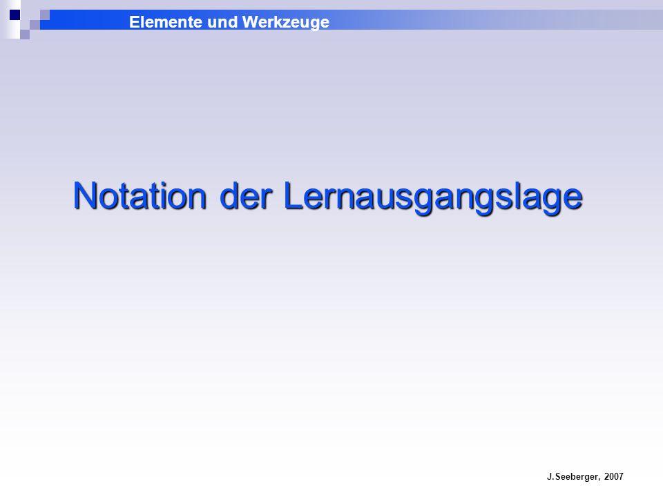 Notation der Lernausgangslage