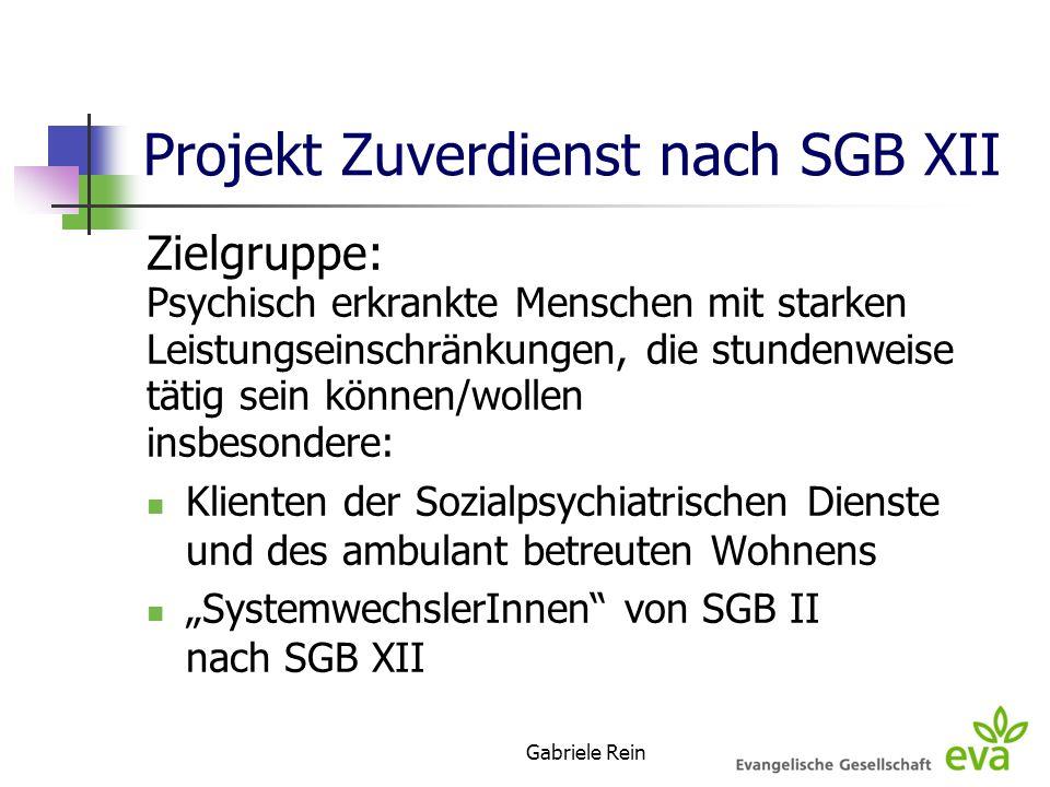 Projekt Zuverdienst nach SGB XII