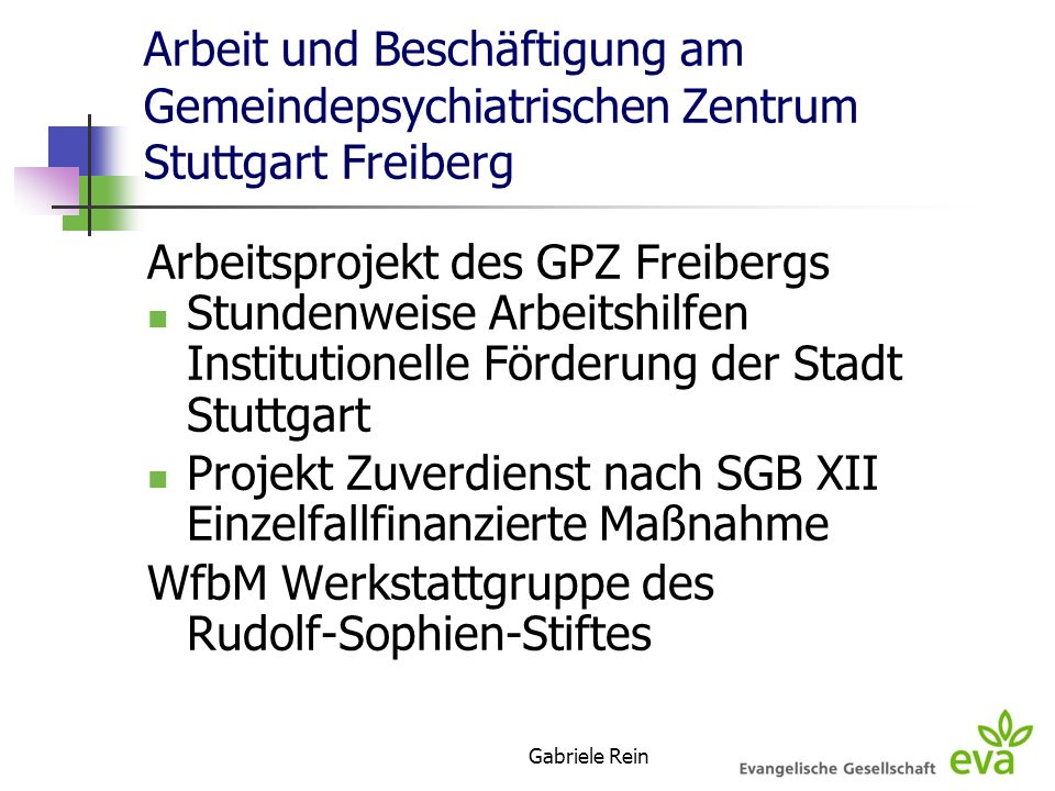 Arbeitsprojekt des GPZ Freibergs